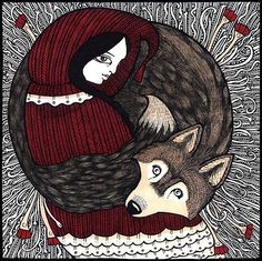 Little Red and Wolf: All the Better to See you With by Anita Inverarity