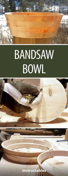 Bandsaw Bowl  #woodworking #kitchen