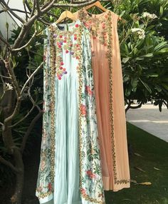 Thread embroidery on georgette suit. …