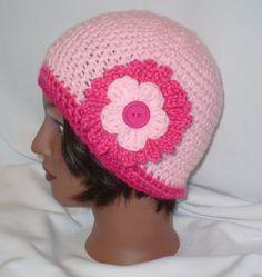 stylish pink crochet hat