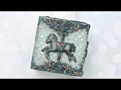 Efekt rdzy i efekt patyny farbami akrylowymi -  DIY tutorial