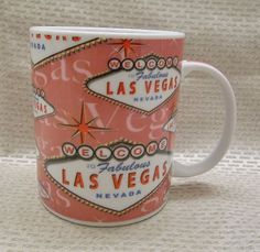 Welcome To Fabulous Las Vegas Pink Mug Coffee Cup