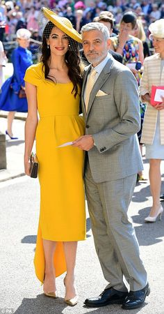 George and Amal Clooney are among the A-listers packing out Harry and Meghan's wedding in an extraordinary celebrity showing May 19 2018