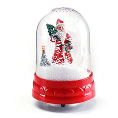 Christmas Snow Globe   Musical Snow Globe with Swirling Snow   Holiday Indoor Decoration