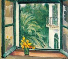 La fenêtre à Alger, Capucines  -  Albert Marquet 1945–1945