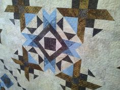 Delbert & Lenora quilt made by Shirley. Longarm quilted by Le Ann Weaver of www.persimmonquilts.com