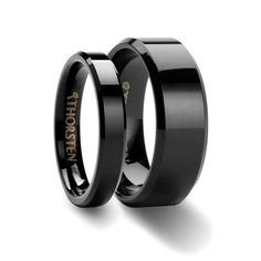 Matching Rings Set Domed Brush Finished Black Tungsten Wedding Band 4mm 8mm Anniversary Pinterest Bands Ring And Weddings