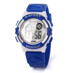 Gbell Kids Sports Electronic Watches,Waterproof LED Digital Wrist Watch – Boys Girls Youth Watch Gifts,Blue,Hot Pink,Sky Blue (Blue) For Sale Best Kids Watches, Cool Watches, Watches For Men, Popular Watches, Wrist Watches, Men's Watches, Girls Wrist Watch, Fitness Watches For Women, Digital Wrist Watch