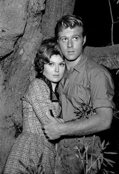 """bonjour-paige: """" Robert Redford and Patricia Blair in The Virginian, 1964 """" Robert Redford, Old Hollywood Movies, Vintage Hollywood, Patricia Blair, James Drury, The Rifleman, The Virginian, Portrait Sketches, Great Tv Shows"""