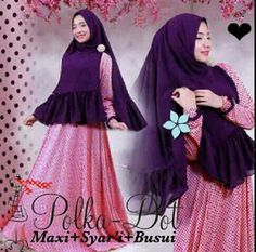 91.000 || Maxi + syar'i matt spandek fit L || Busui frendly || CR