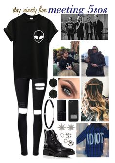 """day ninety five, meeting 5sos"" by roxouu ❤ liked on Polyvore featuring Anastasia Beverly Hills, Kendall + Kylie, Bee Goddess, MICHAEL Michael Kors, NARS Cosmetics and Carbon & Hyde"