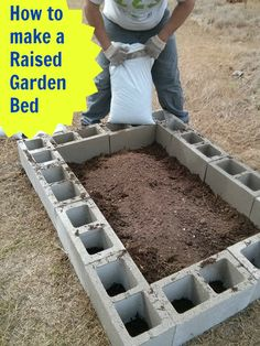 How to Make a Raised Bed #Garden