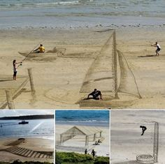 3 D beach art Awkward Pictures, Art Pictures, Funny Pictures, Art Pics, Random Pictures, 3d Optical Illusions, Graffiti Drawing, Dump A Day, Sand Sculptures