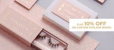 Order now and get flat 10% discount on your custom eyelash boxes. book your order at 888-851-0765 or get a free custom quote. Custom Packaging, Box Packaging, Custom Boxes, Buying Wholesale, Eyelashes, Quote, Flat, Book, Prints