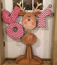 Find More Inspirations About Wood Reindeer Crafts Ideas Christmas Yard Art, Christmas Yard Decorations, Christmas Wood Crafts, Christmas Signs, Outdoor Christmas, Christmas Projects, Winter Christmas, Holiday Crafts, Christmas Ornaments