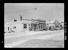 Dickens, IA -- main street in winter