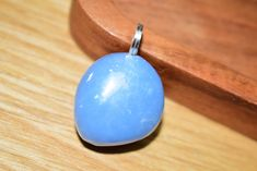 Angelite Handmade Necklace Pendant Handmade Necklaces, Handmade Jewelry, Unique Jewelry, Handmade Gifts, Natural Leather, Sterling Silver Chains, Belly Button Rings, Jewelry Gifts, Pendants