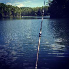 Babcock State Park Lake fishing WV