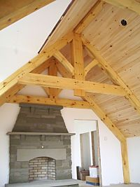 Timber frame features added by Wise Owl Joinery to new home