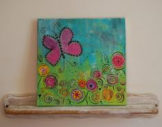 In Bloom Original Canvas PaintingMixed Media by callyscreationsuk, £40.00