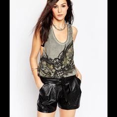 """Religion Gray Washed Dragonfly Moth tank ASOS NWT Religion brand gray washed dragonfly  / moth tank from ASOS. New with tags.  Is also described as a """"vest"""" because it has a loose fit.   Tags say XS buy in my opinion it runs bigger and could probably fit a medium. ASOS Tops Muscle Tees"""