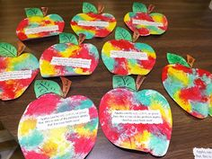 The Stuff We Do - Apple Week at school ~ Sherry and Melissa