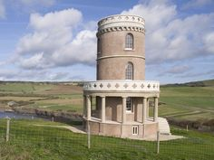 Unique, historical buildings in which to stay in the UK for less than £40 per night.  Here: The four-storey Clavell Tower is probably the most distinctive property in Landmark Trust's books, and it sits on the Dorset coast.