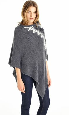 Find sheer, soft and stylish comfort in this #Suss poncho today!