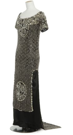 Black and silver beaded evening Dress, 1907, Paul Poiret