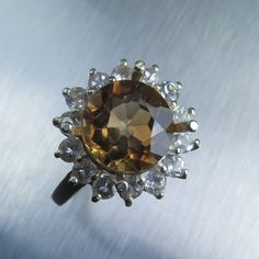 4.20ct Natural Imperial topaz champagne & white topaz by EVGAD