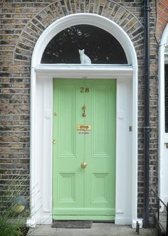 The door which located at the 28 Bloomfield Avenue, Dublin.