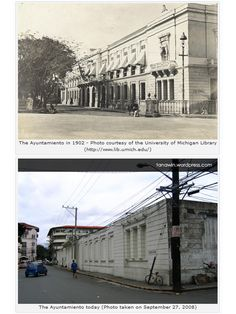 It has been said that the Ayuntamiento was once THE grandest and most majestic structure in the whole of Intramuros. Philippines Culture, Manila Philippines, University Of Michigan Library, Philippine Architecture, Intramuros, Band Of Brothers, Pinoy, Present Day, Wwii