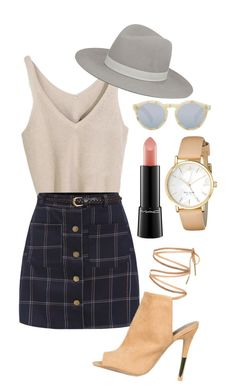 """""""Untitled #42"""" by unknownbee ❤ liked on Polyvore featuring Janessa Leone, MAC Cosmetics, Illesteva, Kate Spade, StreetStyle, BloggerStyle, StreetChic and polyvorefashion"""