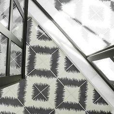 Black and White Mosaic Shower Floor
