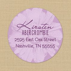 Lavender Daisy Custom Address Labels or Stickers by PoshGirlBoutique