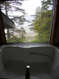 The view from our bath at The Wickaninnish Inn, Tofino #canada #travel #tofino