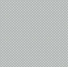 "BTHY - Medium Dot By Waverly Inspirations, Pattern #G030902 - Dove 1, White 1/8"" Polka Dots on a Gray Background, by the HALF YARD"