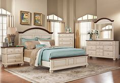 Shop for a Berkshire Lake White   5 Pc King Bedroom at Rooms To Go. Find Bedroom Sets that will look great in your home and complement the rest of your furniture. #iSofa #roomstogo