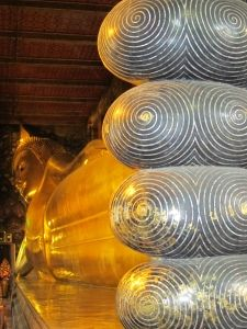 Reclining Buddha, Bangkok, Thailand. One of the crown jewels of the city.