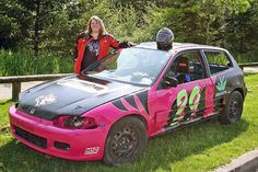 This summer, Automotive Training Centre will be the proud sponsor of a 1993 Honda Civic racecar. Behind the wheel is Cloverdale's Karen Wilkie, who will be competing in a challenging 100-lap race on June 20th at the Agassiz Speedway.