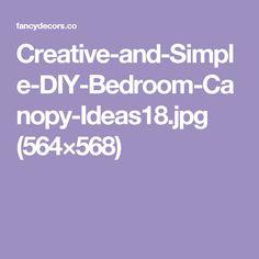 Creative-and-Simple-DIY-Bedroom-Canopy-Ideas18.jpg (564×568)