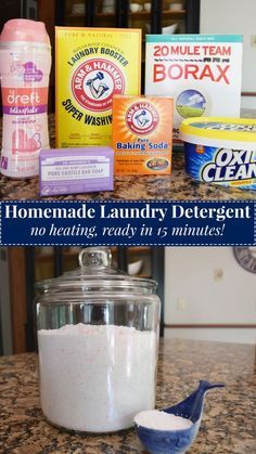 homemade laundry detergent - easy, ready in 15 minutes. from Darling South homemade laundry detergent - easy, ready in 15 minutes. from Darling South Laundry Detergent Recipe, Powder Laundry Detergent, Homemade Laundry Detergent, Natural Laundry Detergent, Eco Friendly Laundry Detergent, Powder Soap, Laundry Powder, Homemade Cleaning Products, Natural Cleaning Products