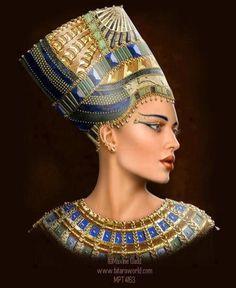 Egyptian Queen / ANCIENT Egyptian Fantasy /Daniel Burkovich