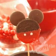 Micky Mouse Pops.  I want to make these!