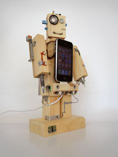 Robodock  robot in function of docking station by valliswood, $260.00