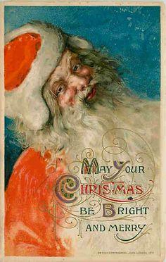 Christmas 1912 Santa Claus Red Suit John Winsch Vintage Postcard « Moodys Collectibles Vintage Postcards ~ Postcard News Blog