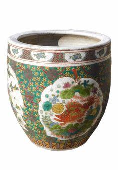 Chinese Handmade Multi-Color Fish Bird Dragon Porcelain Pot cs1228S