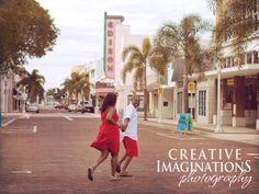 Downtown Ft. Myers Engagement Session Southwest Florida Wedding Photographer | Ft Myers Naples Florida Premiere Wedding and Engagement Photographer