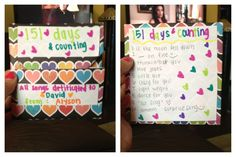 "For our five months (151 days..hint the title)  I made my boyfriend a CD of all the songs that reminded me of him. I decorated the cover to make if more personalized! I made the cover by looking on YouTube,  I just typed in ""cd slip DIY"" so simple and they'll love it!!!"