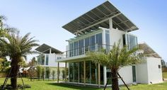casa auto-suficiente alimentada com sistema solar-hidrogênio - phisueahouse-